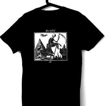 MORTALITÉ T-Shirt for man occult skull goth horror doom black tees dark