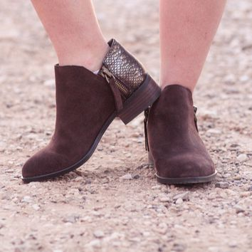 Very Volatile Greyson Ankle Booties in Brown