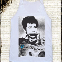 Size S -- BOB DYLAN Shirts Country Rock Shirts Women Shirts Vest Tank Top Women Tunics Sleeveless Singlet Shirts