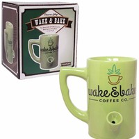 Wake + Bake Ceramic Coffee Mug
