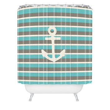 Bianca Green Anchor 1 Shower Curtain