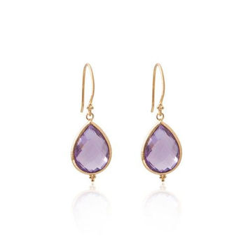 Amma Earrings • Amethyst • Gold Vermeil