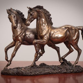 The Chase - Bronze Horse Figurine