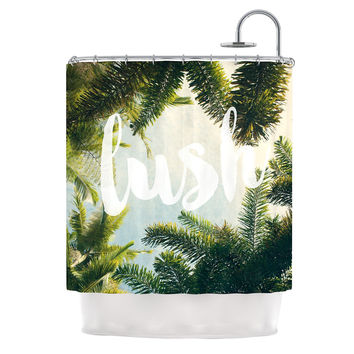 "Catherine McDonald ""Lush"" Nature Typography Shower Curtain"