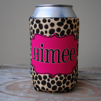 Personalized Can Sleeve - Cheetah