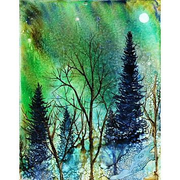 """""""Ethereal Night"""" Alcohol Ink Painting"""