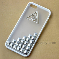 White Frame Clear Back Iphone 5 Case, Harry Potter Deathly Hallows Iphone 5 Case, Antique Silver Stud Iphone 5 Case
