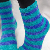 Socks by Sock Dreams » Wide Stripe Fuzzy Socks