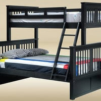 Brockton Black Twin Over Full Bunk Bed