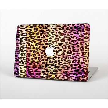 "The Vibrant Striped Cheetah Animal Print Skin Set for the Apple MacBook Pro 13"" with Retina Display"