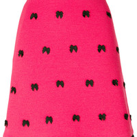 Boutique Moschino Bow Embroidered Skirt - Farfetch