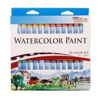 US Art Supply® 24 COlor 10ml Tube Artist Watercolor Paint Set Quick Drying - Walmart.com