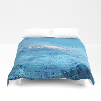 Blue Sky Abstract Duvet Cover by Sheila Wenzel