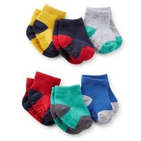 6-Pack Colorbock Baby Socks