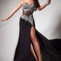 Strapless Mermaid Gown by Tony Bowls Paris