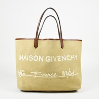 "Givenchy Brown Canvas ""Large Antigona Maison HDG Shopping Tote"" Bag"