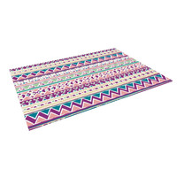 "Nika Martinez ""Boho Ibiza"" Pastel Pink Indoor / Outdoor Floor Mat"