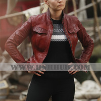 Once Upon a Time Season 6 Jacket | Once Upon A Time Season 6 Fashion | Once Upon a Time Season 6 Emma Swan Black Jacket