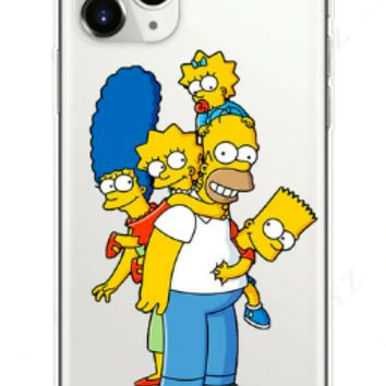 Simp Family Silicone Protective Iphone Case
