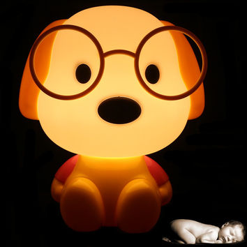 Novelty LED Bulb Baby Room Panda/Rabbit/Dog/cat Cartoon Kids Bed side desk Lamp LED Night Sleeping light Toys Gifts EU/US Plug