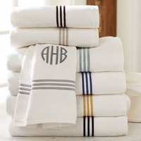 GRAND EMBROIDERED 700-GRAM WEIGHT BATH TOWELS
