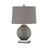 Simone 1 Light Table Lamp In Grey And Pewter