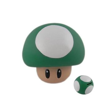 Super Mario party nes switch 9cm Anime Cartoon  Green Mushroom Coin Piggy Bank  PVC Figure Collectible Model Toys Dolls For Children AT_80_8
