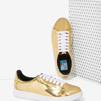 JC Play By Jeffrey Campbell Player Sneaker - Gold Metallic