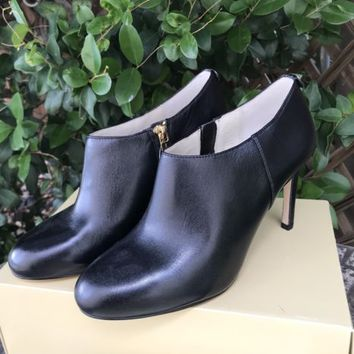Michael Kors Sammy Ankle Boots Leather Heels Sz 8 NEW