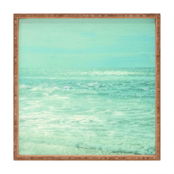 Lisa Argyropoulos Where Ocean Meets Sky Square Tray