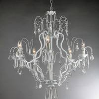 Courtney White Wrought Chandelier