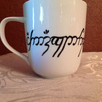 Lord of the Rings Elvish mug