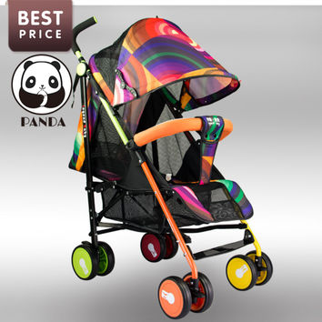 Babypanda tricycle infant strollers for babies single umbrella children bicycles summer baby pram orange  purple Breathable yarn