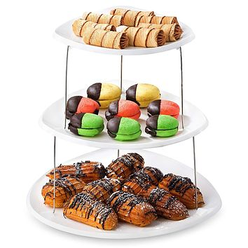 3 Tier Collapsible Decorative Serving Trays