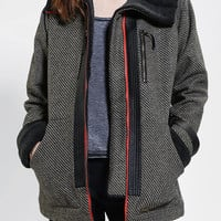 Stussy Check Sherpa-Trim Jacket