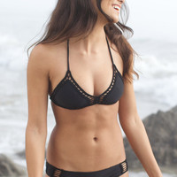The Girl and The Water - ACACIA Swimwear - Andy Bikini Top / Storm - $110