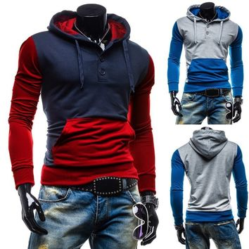 Trendy Two-Tone Sweatshirt Pullovers