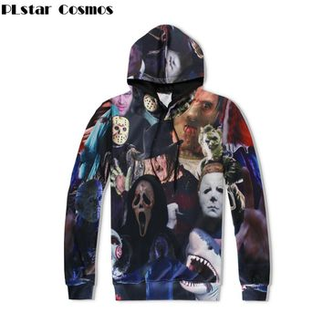 PLstar Cosmos Harajuku Men/Women Hoodies 3D All Over Print Horror Movie Killers/Halloween Devil/Shark/Zombie Sweatshirt hoodie