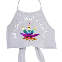 Munchies Grey Halter