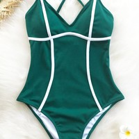 Cupshe Soul Mates Solid One-piece Swimsuit