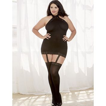 Plus Size Moscow Hosiery Garter Dress