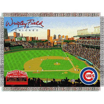 Chicago Cubs MLB Wrigley Field Triple Woven Throw