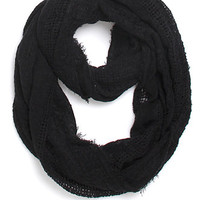 Kendall and Kylie Mix Texture Fringe Infinity Scarf at PacSun.com