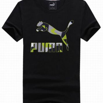 PUMA GREEN AND BLACK SHORT SLEEVE TOP BLOUSE