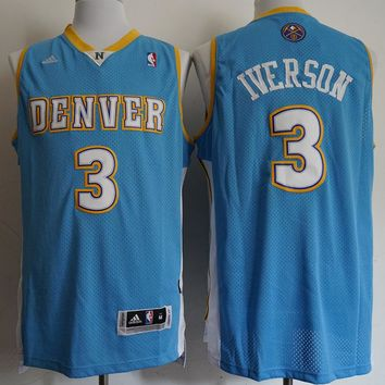 Allen Iverson #3 Denver Nuggets Blue Jerseys - Best Deal Online