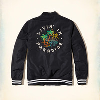 Guys Embroidered Nylon Souvenir Bomber Jacket | Guys Jackets & Outerwear | HollisterCo.com
