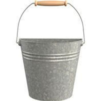 Panacea Products - Half Round Wall Buckets With Wood Handles