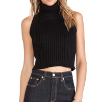 Lovers + Friends North Star Crop Sweater in Black