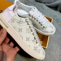 LV simple color matching women's low-top wild casual shoes