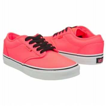 Athletics Vans Women's Atwood Neon Coral/Black FamousFootwear.com
